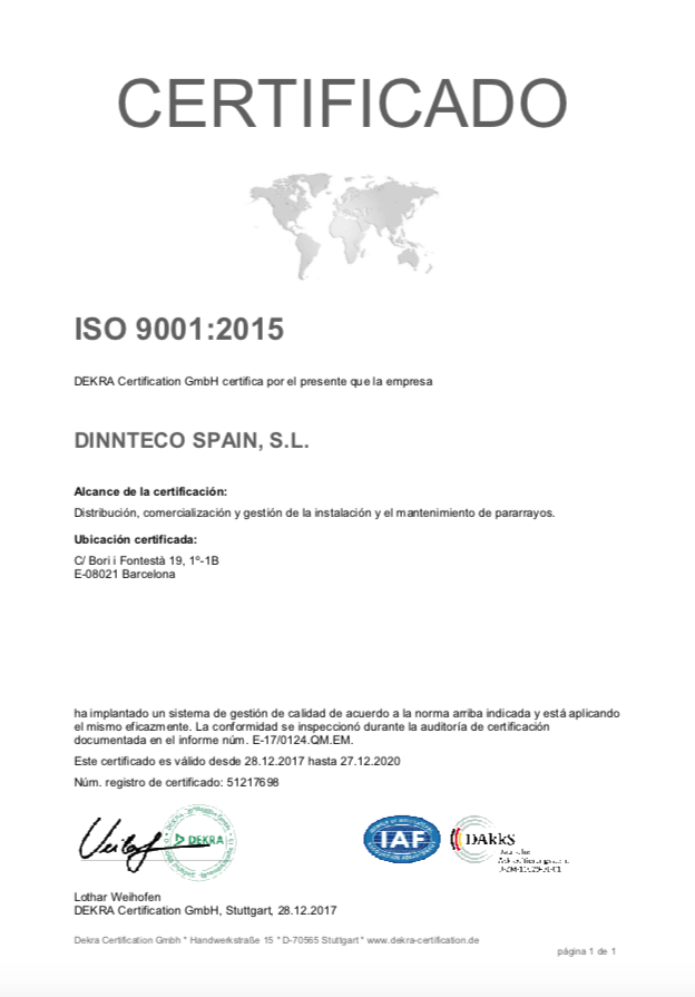 Certification 9001
